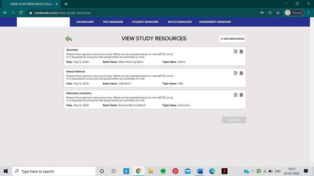 How to share study material on Rootworkz