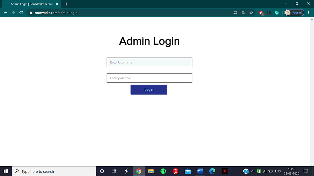 Adding notifications in ROOTWORKZ
