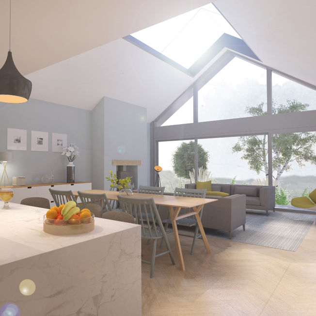 Contemporary House Extension - Open Plan Kitchen, Dining and Living Area