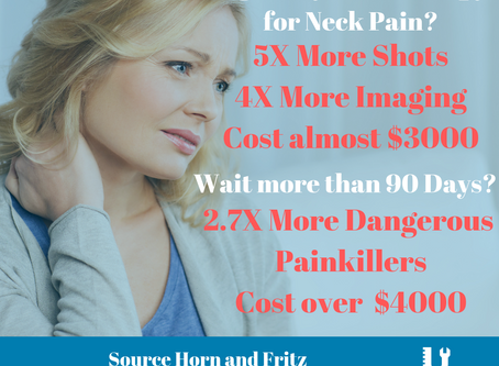 What is waiting costing you for #neckpain?
