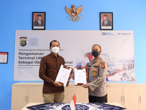 PT PEL Kolaborasi dengan Polda Bali Jaga Keamanan Terminal LNG Benoa