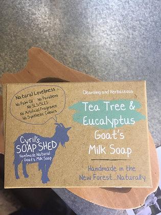 Tea Tree & Eucalyptus Goat Milk Soap