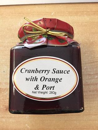 Cranberry Sauce with Orange & Port