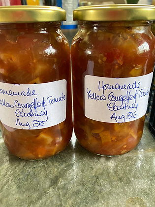 Homemade Yellow Courgette & Tomato chutney