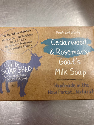 Cedar wood & Rosemary Goat Milk Soap