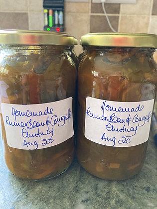 Homemade Runner Bean & Courgette Chutney