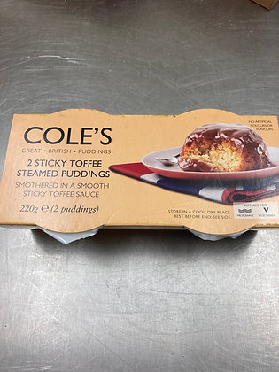 Cole's Sticky Toffee Steamed Pudding
