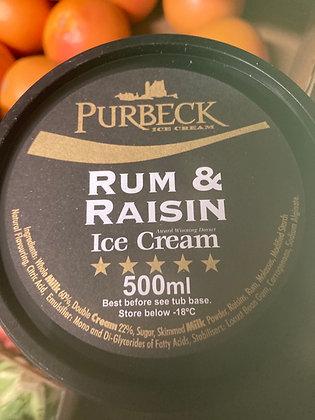 Purbeck Rum n Raisin ice Cream