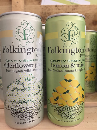Folkingtons gently sparkling cans