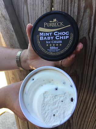 Purbeck Baby Mint choc Chip ice cream