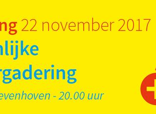 Openbare algemene ledenvergadering op 22 november