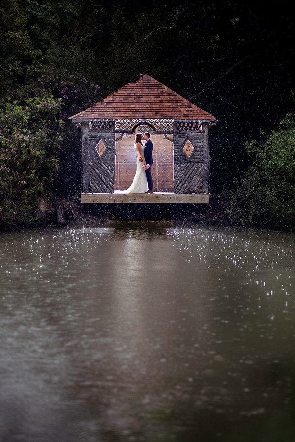 Bride and Groom kiss in the Boat House at The Ravenswood Hotel and Wedding Venue. Beckenham Wedding Photographer London Wedding Photographer Beckenham Wedding Photographer London Wedding Photographer