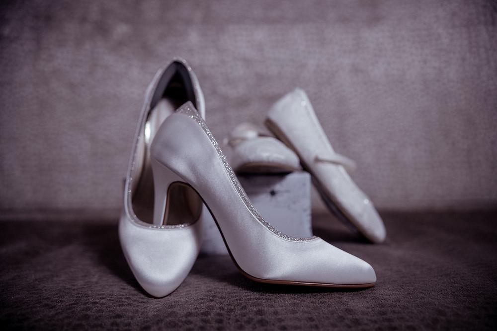 Brides wedding shoes photograph by Editorial Photographer Shane Anthony Sinclair Beckenham Wedding Photographer London Wedding Photographer