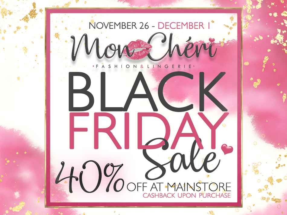 Black Friday 40% off on everything!