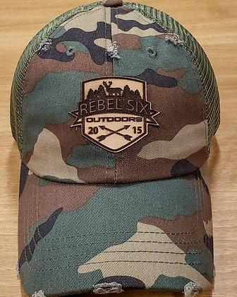 CAMO/LOGO PATCH HAT