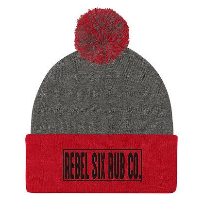 Rebel Six Rub Co Puff Beanie