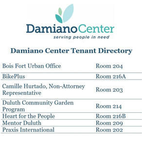 The other organizations within the Damiano Center