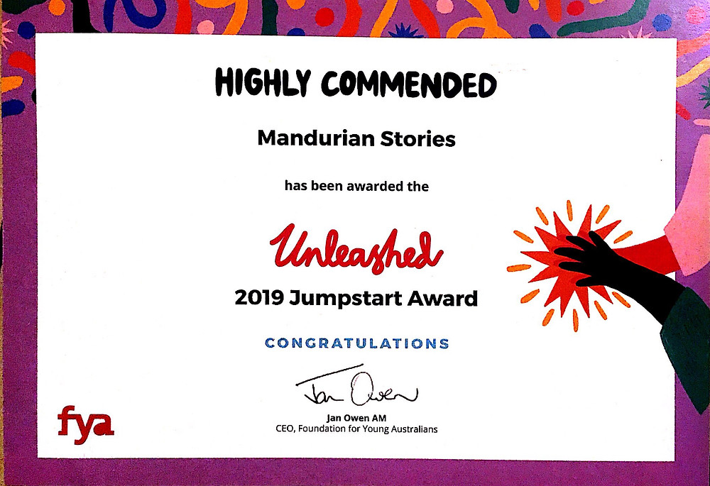 Mandurian Stories: Highly Commended, Unleashed Awards
