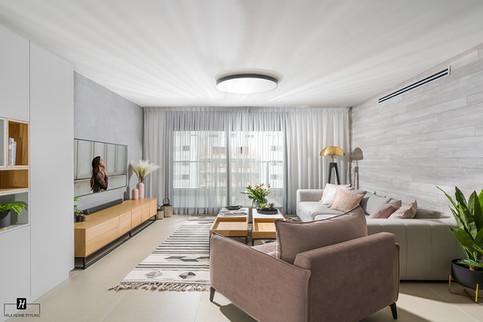 עיצוב דירת 5 חדרים מחיר למשתכן משפחת
