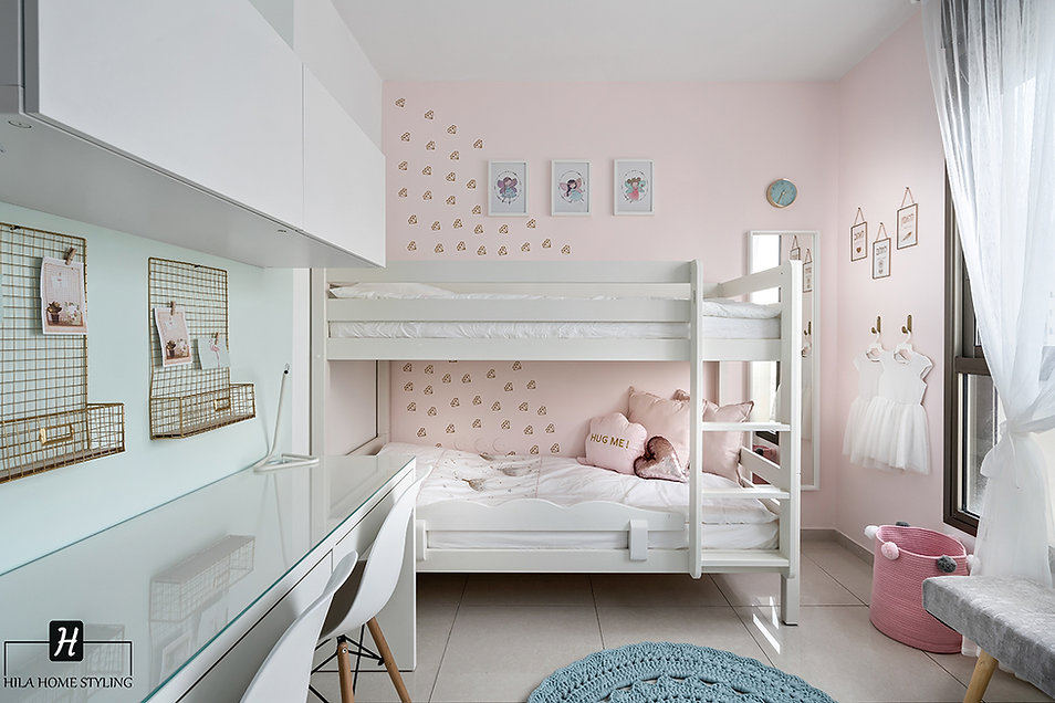 עיצוב חדר שינה לשתי בנות