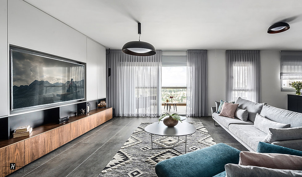 עיצוב פנטהאוז, עיצוב דירת קבלן
