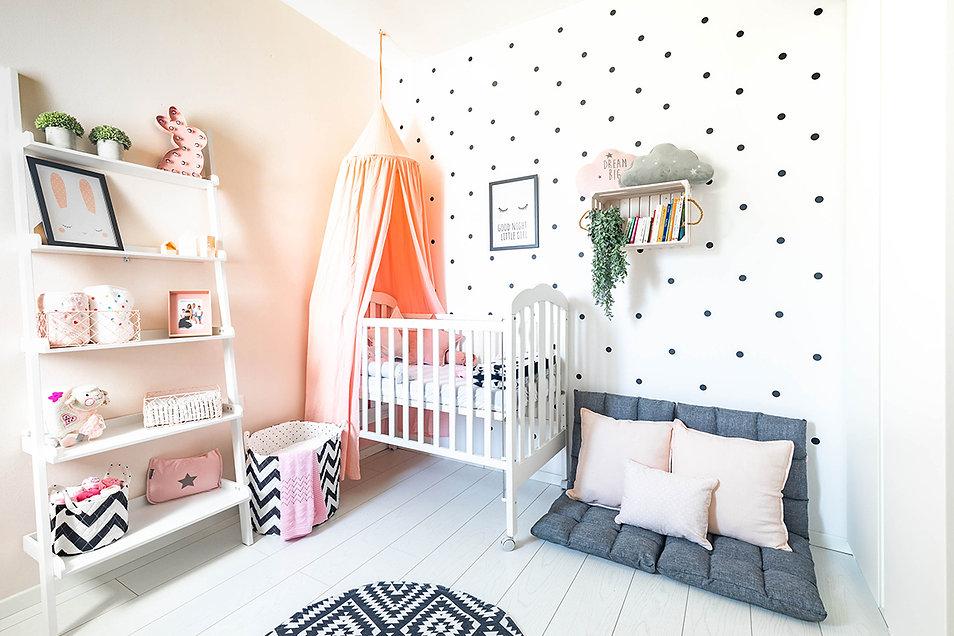 עיצוב חדר לתינוקת