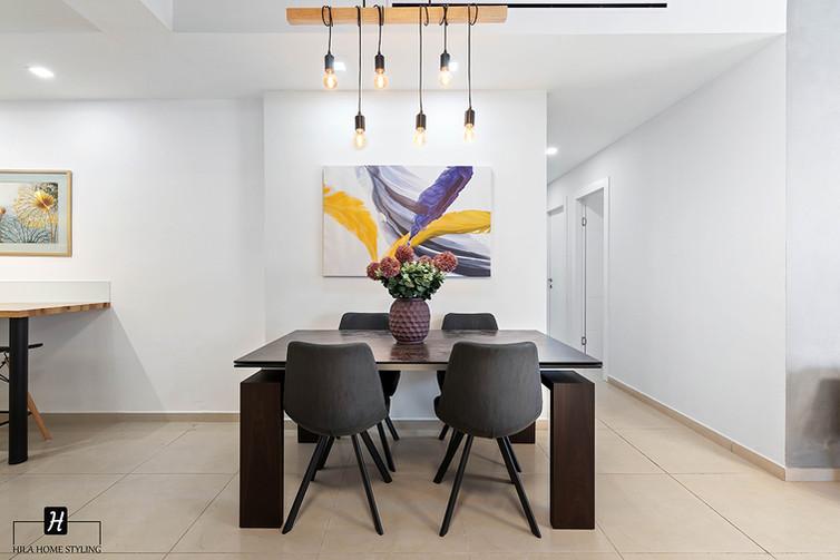 עיצוב דירת קבלן משפחת חלפין