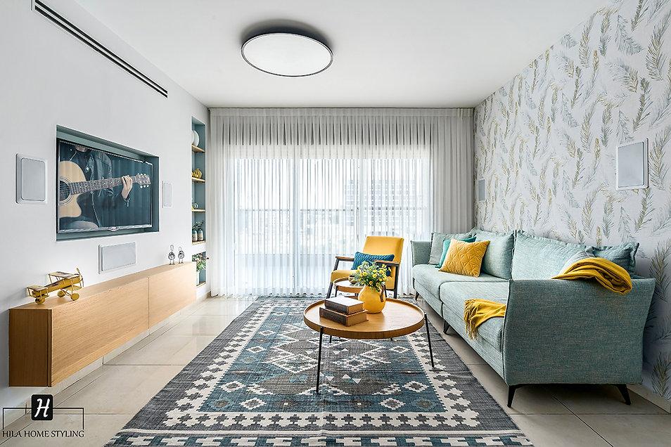 עיצוב דירת קבלן 5 חדרים