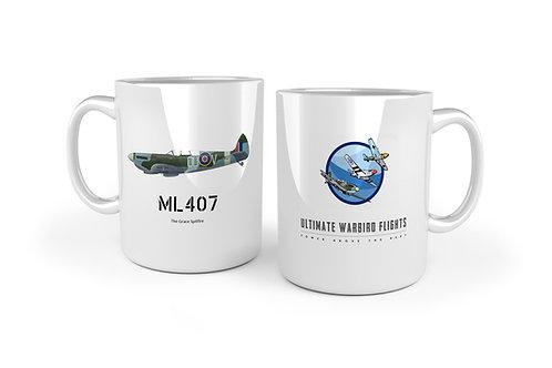 Spitfire ML407 Mug