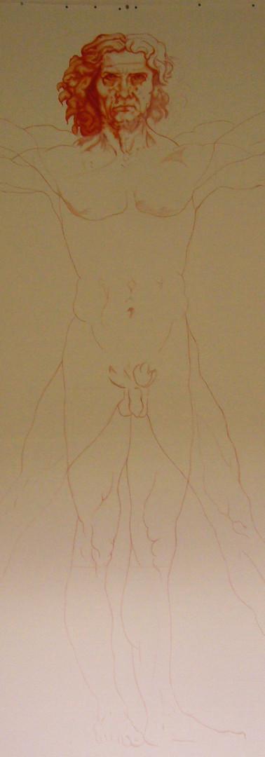 L'Homme de Vitruve - oeuvre en cours I