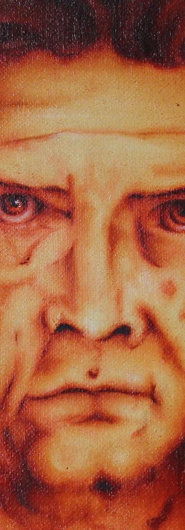 L'Homme de Vitruve - Portrait détail