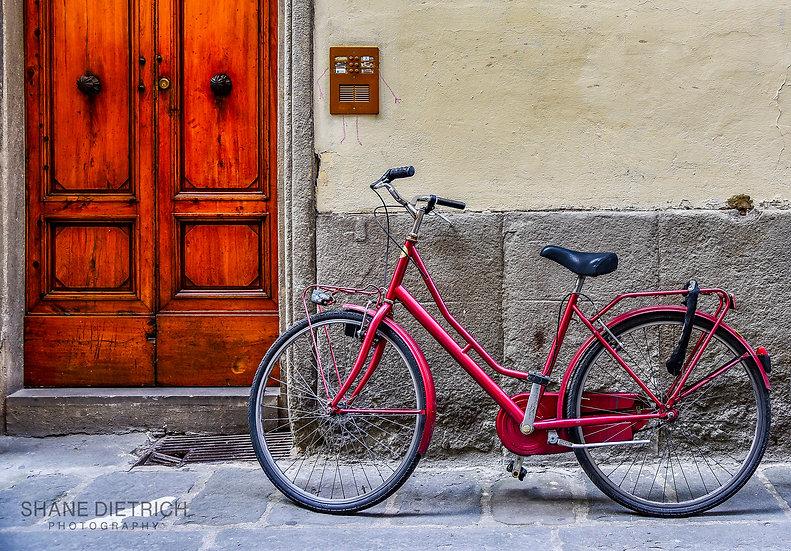 Bicycle No. 2 - Red Bike Red Door