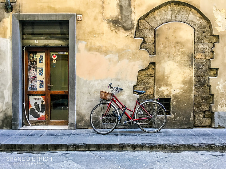 Bicycle No. 8 - Just Red