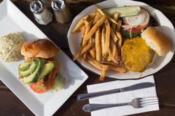 Burger and Chicken Sandwich
