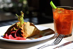 Empanadas and Bloody Mary