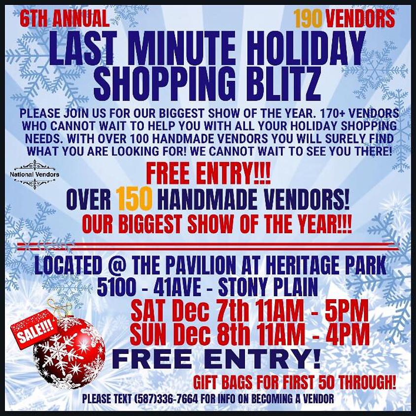 Last Minute Holiday Shopping Blitz
