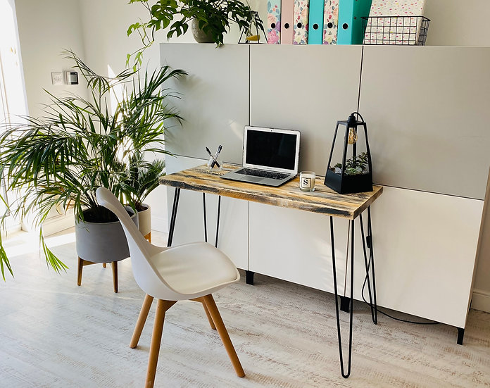 Reclaimed Style Straight Desk - Sizes from 100cm to 160cm