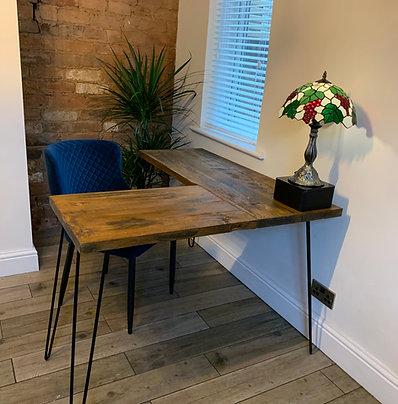 Rustic Corner Desk - Sizes from 100cm to 120cm