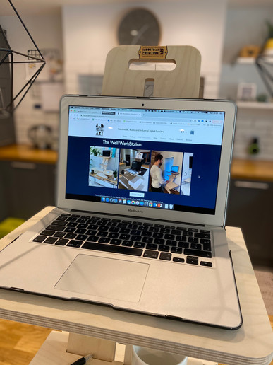 Well WorkStation - Laptop Shelf Close Up