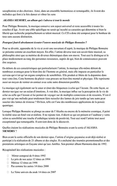 Interview Philippe Bonnaire album AKASHA