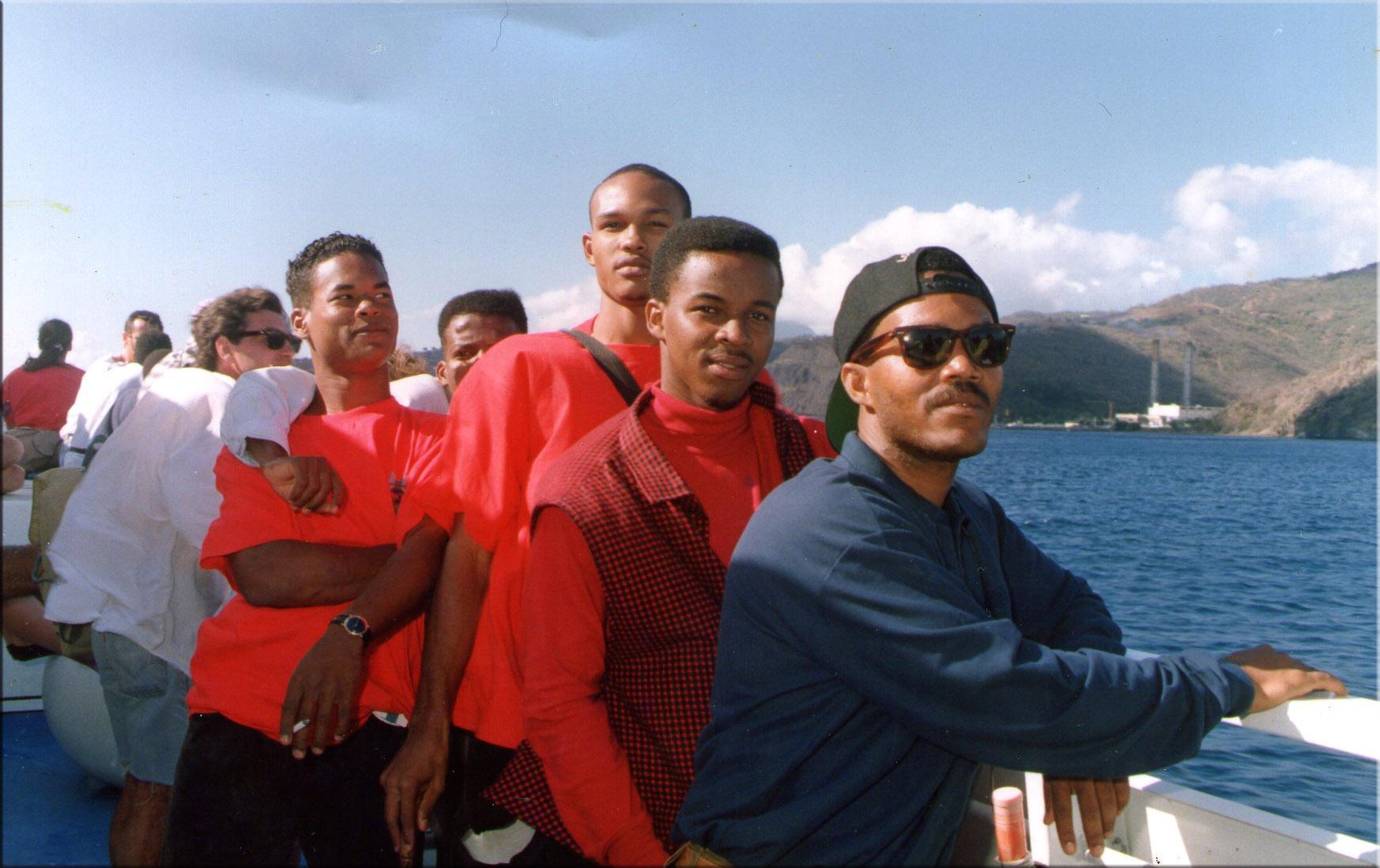 à bord du bateau pour la Guadeloupe