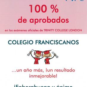 Inglés Trinity, 100% de aprobados