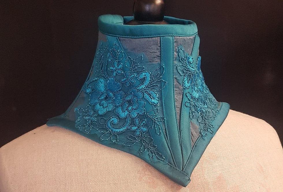 Turquoise neck corset
