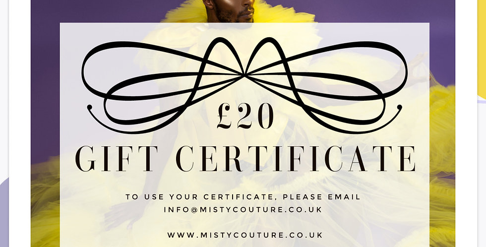Gift Certificate - £20