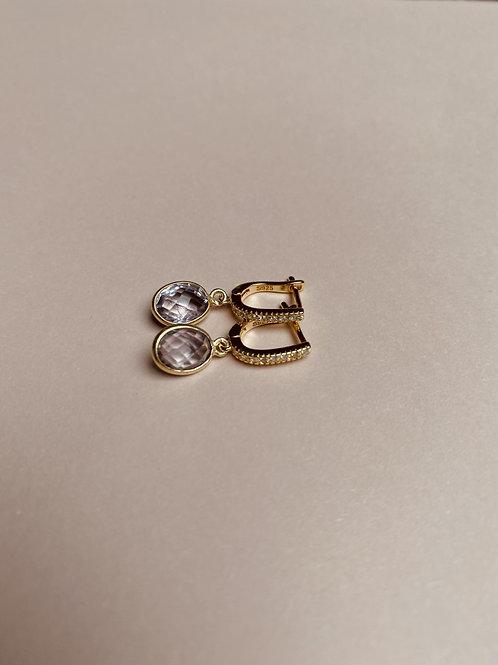 Pink Amethyst Earrings