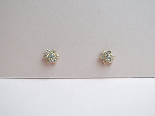 Summer Crystal Earrings - 9ct Gold