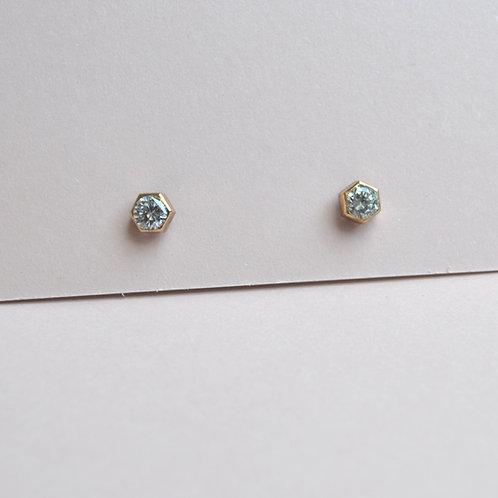 Shoreline Crystal Earrings - 9ct Gold