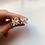 Thumbnail: Floral Earrings - Rose Quartz