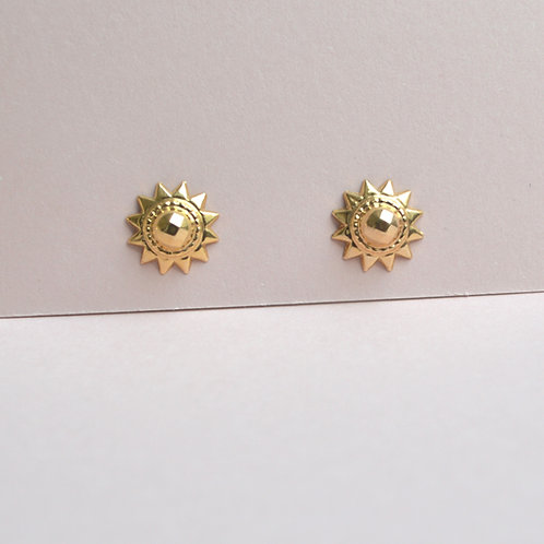Sun Earrings- 9ct Gold