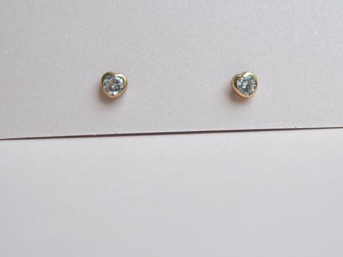 Love Crystal Earrings - 9ct Gold